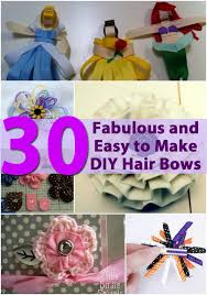 how to make your own hair bows 30 fabulous and easy to make diy hair bows diy crafts