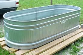 galvanized trough planters round galvanized stock tank round metal