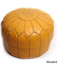 Ottoman Morocco Winter Bargains On Handmade Moroccan Leather Pouf Authentic
