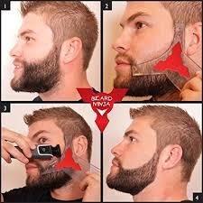 beard ninja shaping tool template shaper guide line up face