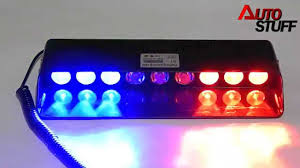 red and white led emergency lights bright cree led flashing strobe light red white and blue color car