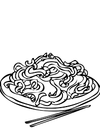 chow mein coloring page handipoints