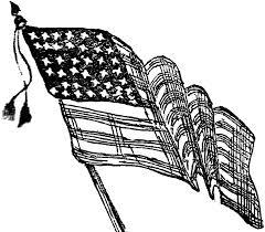 Black And White Us Flag Flag Clipart Etc