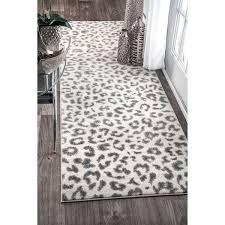 Leopard Runner Rug Nuloom Modern Grey Leopard Spotted Runner Rug 2 8 X 8 Free