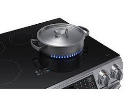 What Is An Induction Cooktop Stove Shop Samsung Virtual Flame 4 Element 5 8 Cu Ft Self Cleaning Slide