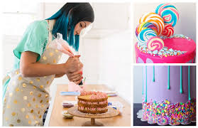 katherine sabbath u0027s tips for making neon drip cakes delish com