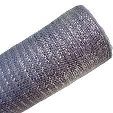 deco poly mesh ribbon silver foil metallic 21