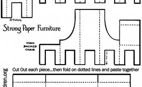 how to make a paper doll house table u0026 chairs kids crafts