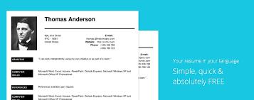 free resume creator resume builder resume builder