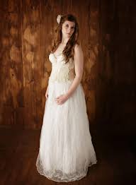 Vintage Ivory Lace Wedding Dress Unique Wedding Dress Boho Wedding