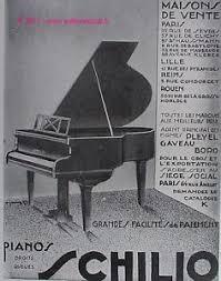 ad un piano publicite originale de 1929 piano schilio pleyel gaveau a bord