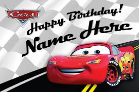 free custom disney birthday card lightning mcqueen cars