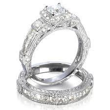 wedding ring set for penelope s antique style imitation diamond wedding ring set