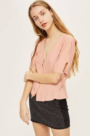 blouse button button blouse shirts blouses clothing topshop