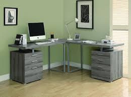 Modern Desk Sale by Double Pedestal Modern Computer Desk In Dark Taupe Reclaimed