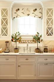 Curtains Kitchen Window by Board Mounted Valance With Shaped Bottom And Trim Kitchen