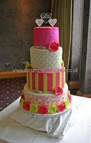 pink u0026 lime green wedding cake cakecentral com