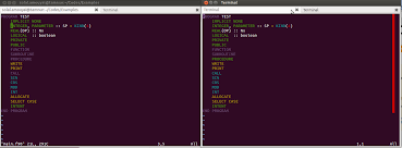 fortran different color schemes on vim stack overflow