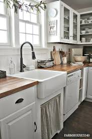 Kitchen Country Design by Best 25 White Farmhouse Kitchens Ideas On Pinterest Farmhouse