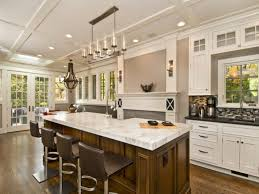 movable kitchen island shaped dark wood island with white