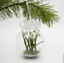 buy christmas ball with snowdrops on livemaster online shop