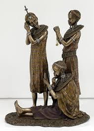 tayari maasai tribe figurines sj23262 cold cast bronze