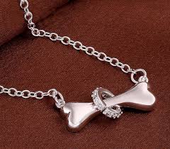dog necklace silver images Sterling silver dog bone necklace png