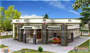 modern flat roof house plans single floor house flat roof kerala home design plans house
