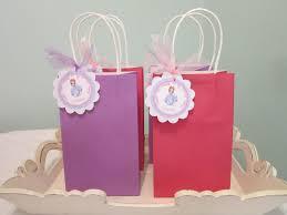 Birthday Favor Bags by Sofia The Favor Bag Tag Princess Birthday Thank