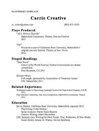 Resume Templates Samples by Playwright Resume Template Sample Http Resumesdesign Com