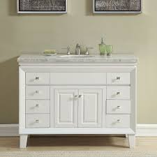 bathroom sink cabinets with marble top 48 inch off white carrara marble top bathroom vanity single sink