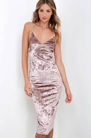 taupe velvet dress bodycon dress midi dress 40 00