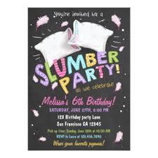 pajama invitations announcements zazzle
