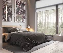 Low Lying Bed Frames Home Designs Two Abstract Prints Low Lying Bed Charcoal