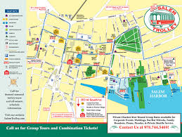 boston tourist map salem trolley tours of salem massachusetts of boston ma