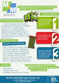 m u0026m disposal u0026 bin rental infographics providing bin rental