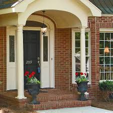 interior charming front porch curb appeal decoration with brick
