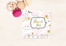 gold thank you tag thank you baby shower tag baby shower