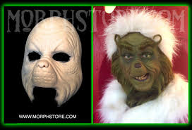 Grinch Halloween Costume Halloween Foam Latex Grinch Face Brows Mask Lot Ebay