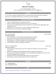 Example Of Resume Australia by Resume Samples With Free Download Data Entry Supervisor Free