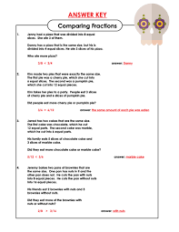comparing fractions word problems word problems fraction word