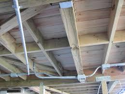 electrical wiring under deck home improvement stack exchange
