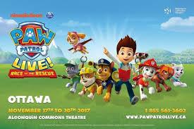 paw patrol live u201crace rescue u201d u2013 tickets u2013 algonquin