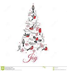 birds on tree stock vector illustration of card 46083936