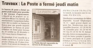 le bureau de poste le plus proche travaux la poste a fermé jeudi matin