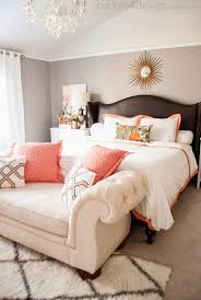 coral bedroom ideas loving this neutral bedroom made fun with touches of coral