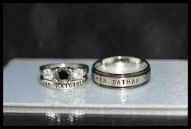 batman engagement rings batman wedding ring set his and hers 2018 weddings