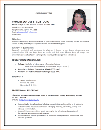 Resume And Job Application by 11 Cv And Job Application Basic Job Appication Letter