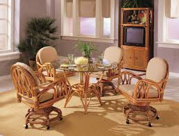 rattan dining room set abaco rattan 5 pc round dining room