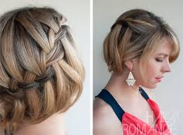 step by step braid short hair short hairstyles hairstyles with braids for short hair images